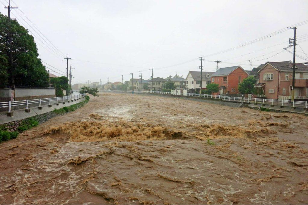 大雨による災害の例